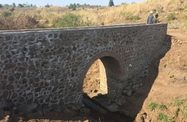 Probably the first brick/stone arch in Malawi!!